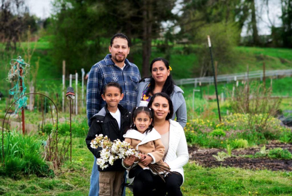 Terrazas Family at Huerto de la Familia
